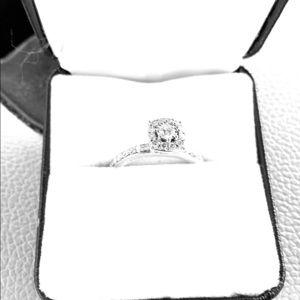 10K white gold 1/2 carat diamond engagement ring